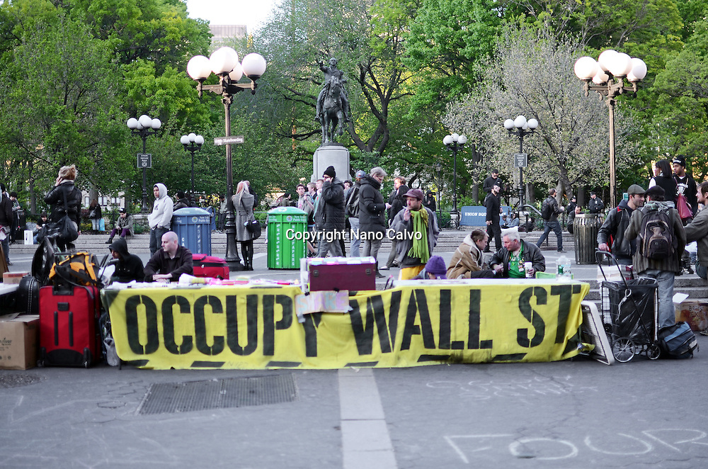 Occupy Wall Street protestors at Union Square, New York
