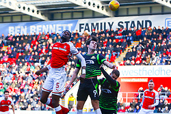 Semi Ajayi of Rotherham United heads at goal - Mandatory by-line: Ryan Crockett/JMP - 24/02/2018 - FOOTBALL - Aesseal New York Stadium - Rotherham, England - Rotherham United v Doncaster Rovers - Sky Bet League One
