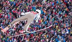 04.01.2015, Bergisel Schanze, Innsbruck, AUT, FIS Ski Sprung Weltcup, 63. Vierschanzentournee, Innsbruck, 1. Wertungssprung, im Bild Marinus Kraus (GER) // Marinus Kraus of Germany soars trought the air during his first competition jump for the 63rd Four Hills Tournament of FIS Ski Jumping World Cup at the Bergisel Schanze in Innsbruck, Austria on 2015/01/04. EXPA Pictures © 2015, PhotoCredit: EXPA/ JFK