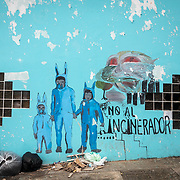 JULY 21, 2018---ARECIBO, PUERTO RICO---<br /> The downtown area of the northern town Arecibo. Street art protesting against the construction of a major incinerator in a neighboring town.<br /> (Photo by Angel Valentin/Freelance)