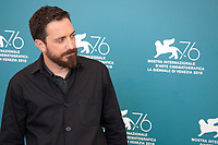 Venice, Italy, 31st August 2019, Director Pablo Larraín at the photocall for the film Ema at the 76th Venice Film Festival, Sala Grande. Credit: Doreen Kennedy/Alamy Live News