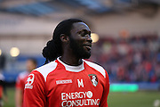 AFC Bournemouth striker Kenwyne Jones during the Sky Bet Championship match between Brighton and Hove Albion and Bournemouth at the American Express Community Stadium, Brighton and Hove, England on 10 April 2015.