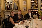 OLGA MICHAUD; EMMA MICHAUD;  GEORGE PEARSON, Charlton Hunt Ball at Goodwood House.  6 February 2016