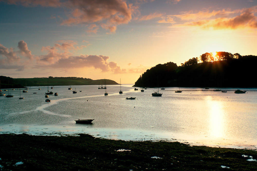 Helford River at dawn, Cornwall