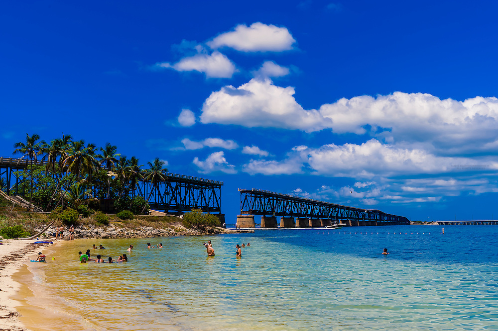 Old Bahia Honda Bridge, Bahia Honda State Park, Big Pine Key, Florida Keys, Florida USA