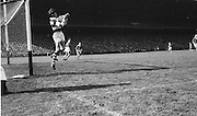 Cork Goalie Billy Morgan jumps as he saves this high ball during the All Ireland Senior Gaelic Football Final Kerry v Down in Croke Park on the 22nd September 1968. Down 2-12 Kerry 1-13.