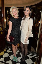 Left to right, NATALIE COYLE and LINZI STOPPARD at Beautiful - The Carole King Musical 1st Birthday celebration evening at The Aldwych Theatre, London on 23rd February 2016.