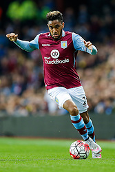 Jordan Amavi of Aston Villa in action - Mandatory byline: Rogan Thomson/JMP - 07966 386802 - 14/08/2015 - FOOTBALL - Villa Park Stadium - Birmingham, England - Aston Villa v Manchester United - Barclays Premier League.