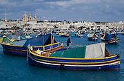 Marsaxlokk. Fishing boats.