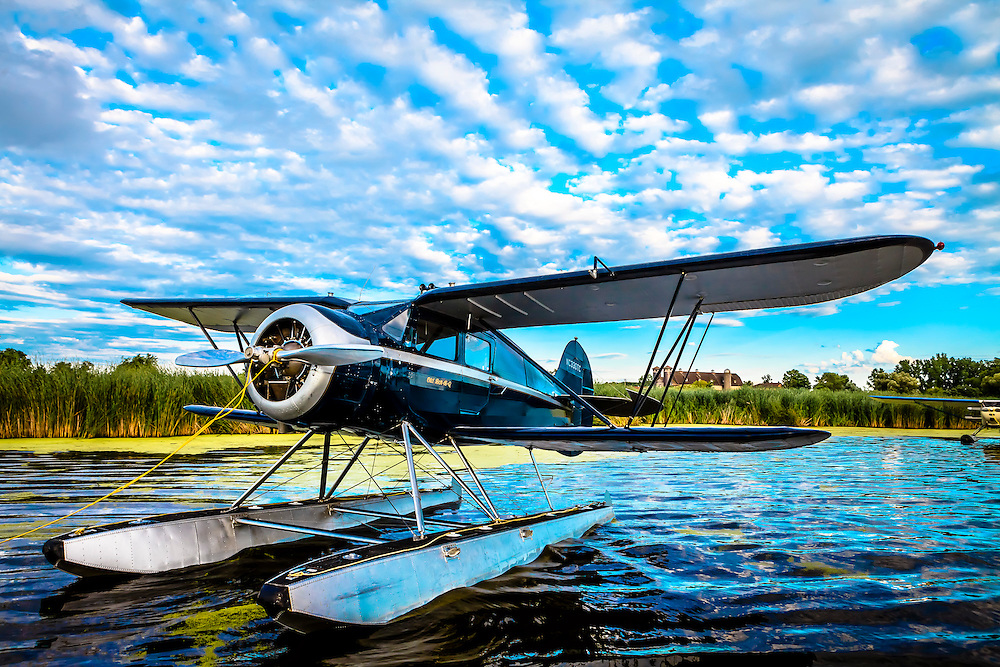 1937 WACO ZKS-6 on floats, owned by Carl Buck of Longmont, Colorado.