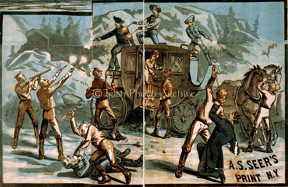 Vignettes of western scenes Creator(s): A.S. Seer., 1881?