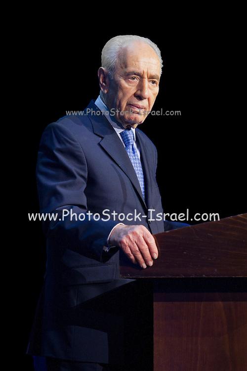 Shimon Peres Israel's President January 2012