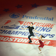 Maia Shibutani and Alex Shibutani are seen during the Smucker's Skating Spectacular at the TD Garden on January 12, 2014 in Boston, Massachusetts.