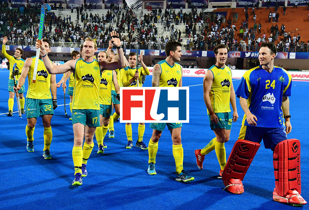 Odisha Men's Hockey World League Final Bhubaneswar 2017<br /> Match id:20<br /> Australia v Germany<br /> Foto: Australia wins the Semi Final against Germany.<br /> COPYRIGHT WORLDSPORTPICS FRANK UIJLENBROEK