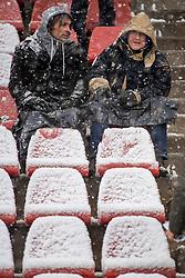 10-12-2017 NED: FC Utrecht - Feyenoord, Utrecht<br /> De aftrap van de competitiewedstrijd tussen FC Utrecht en Feyenoord is toch nog afgelast. Supporters waren massaal weggebleven