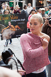 FHM's 'Sexiest Woman in the UK'  Helen Flanagan during unveiling of PETA Advert: 'Leave Wildlife out of Your Wardrobe' in Covent Garden, London, UK, 23 May 2013. Photo by: Daniel Leal-Olivas / i-Images