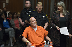 April 27, 2018 - Sacramento, CA, USA - Joseph James DeAngelo, the suspected East Area Rapist, is arraigned in a Sacramento courtroom and charged with murdering Katie and Brian Maggiore in Rancho Cordova in 1978 on Friday, April 27, 2018, in Sacramento, Calif. (Credit Image: © Randy Pench/TNS via ZUMA Wire)