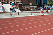 SO Poland athlete Ilona Brzechwa competes at athletics relay 4 x 100 meters during eighth day of the Special Olympics World Games Los Angeles 2015 on August 1, 2015 at Loker Stadium on USC (University of Southern California) in Los Angeles, USA.<br /> USA, Los Angeles, August 1, 2015<br /> <br /> Picture also available in RAW (NEF) or TIFF format on special request.<br /> <br /> For editorial use only. Any commercial or promotional use requires permission.<br /> <br /> Adam Nurkiewicz declares that he has no rights to the image of people at the photographs of his authorship.<br /> <br /> Mandatory credit:<br /> Photo by &copy; Adam Nurkiewicz / Mediasport