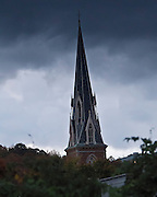 Roger Crowley / CrowleyPhotos.com..Church steeple in Montpelier Vermont