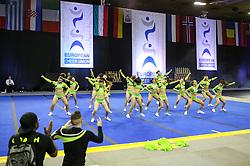 Junior Wildcats of Wildcats Cheerleader Leverkusen at ECU European Cheerleading Championships 2015 on June 27th 2015, in Hala Tivoli, Ljubljana. Photo by Matic Klansek Velej / Sportida