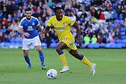 AFC Wimbledon striker Dominic Poleon (10) in action during the EFL Cup match between Peterborough United and AFC Wimbledon at ABAX Stadium, Peterborough, England on 9 August 2016. Photo by Stuart Butcher.