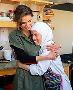 Queen Rania  Visits Kawon Bookshop, Madaba