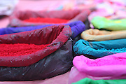 a stall selling paints and dyes at an Indian Market