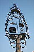 Village sign, Wickham Market, Suffolk