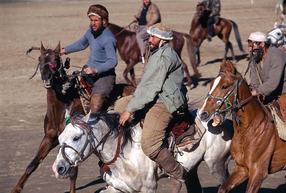 Afghan Horsemen Play Buzkashi, Afghanistan.