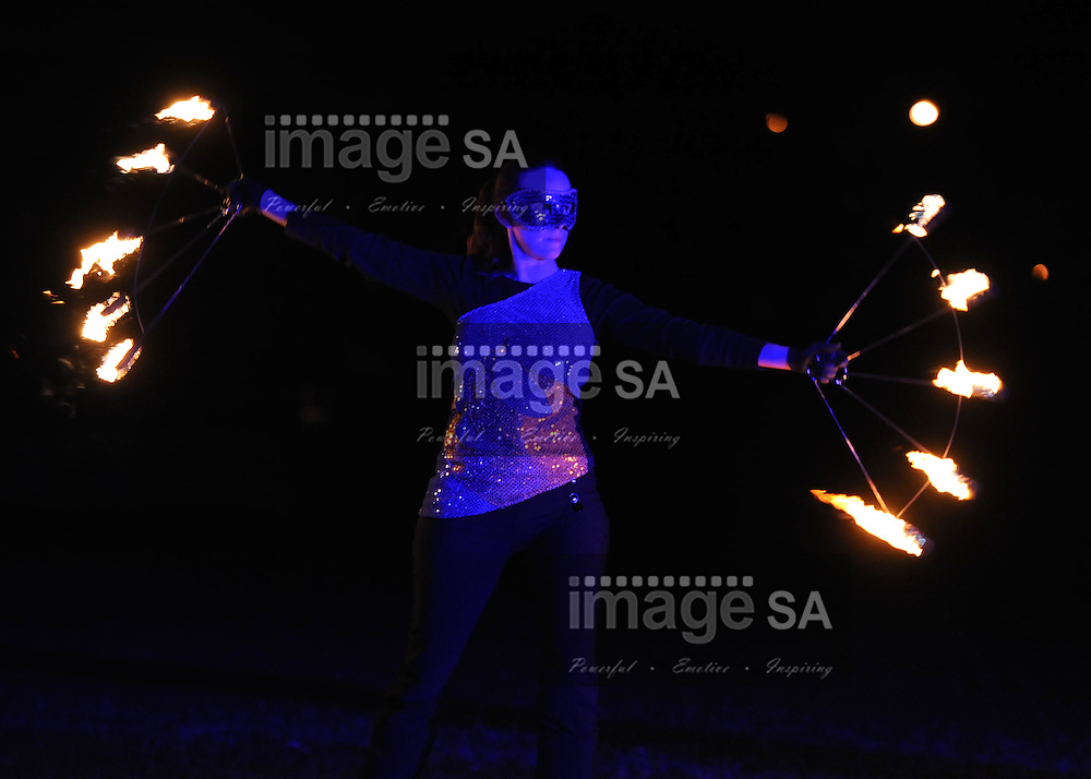 CAPE TOWN, South Africa - Friday 29 March 2013, a Firetribe dancer during the opening ceremony of the 25th Metropolitan Premier Cup soccer tournament taking place at Erica Park Sports Complex in Belhar..Photo by Roger Sedres/ ImageSA