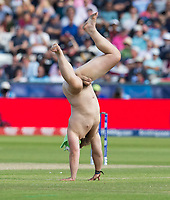 Cricket - 2019 ICC Cricket World Cup - Group Stage: England vs. NZ<br /> <br /> A streaker runs onto the pitch in the match between England and New Zealand, at the Riverside, Chester-le-Street, Durham.<br /> <br /> COLORSPORT/BRUCE WHITE