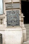 Headquarters Lloyds bank, Threadneedle Street, City of London, London