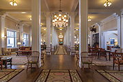 Hotel photography. The lobby of the Mount Washington Hotel in the White Mountains of New Hampshire