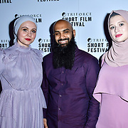 Nailah, Rizwan Wadan and Nina of Error in Terror attend TriForce Short Festival, on 30 November 2019, at BFI Southbank, London, UK.