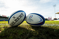 A general view of European Heineken Champions Cup Balls at  prior to kick off - Mandatory by-line: Ryan Hiscott/JMP - 13/01/2019 - RUGBY - Sandy Park Stadium - Exeter, England - Exeter Chiefs v Castres - Heineken Champions Cup