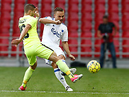 FOOTBALL: Nikolas Špalek (MŠK Žilina) and Pierre Bengtsson (FC København) uring the UEFA Champions League Second qualifying round, 2nd leg match between FC København and MŠK Žilina at Parken Stadium, Copenhagen, Denmark on July 19, 2017. Photo: Claus Birch