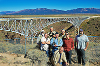"""Nikonians ANPAT 12 Van 3 """"Nikaliens"""" Group Photo at the Rio Grande Gorge Bridge near Taos, New Mexico. Image taken with a Nikon D800 and 35 mm f/1.4G lens (ISO 160, 35 mm, f/8, 1/500 sec). RAW image processed with Capture One Pro 7."""