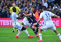 Marco VERRATTI / Mario LEMINA / Rod FANNI / Jeremy MOREL - 05.04.2015 - Marseille / Paris Saint Germain - 31eme journee de Ligue 1<br />Photo : Dave Winter / Icon Sport
