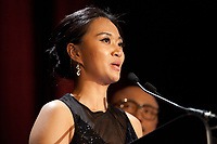 Cinematographer Cecile Zhang honored during the Pierre Angénieux ExcelLens in Cinematography, Tribute to Edward Lachman at the 71st Cannes Film Festival, Friday 18th May 2018, Cannes, France. Photo credit: Doreen Kennedy