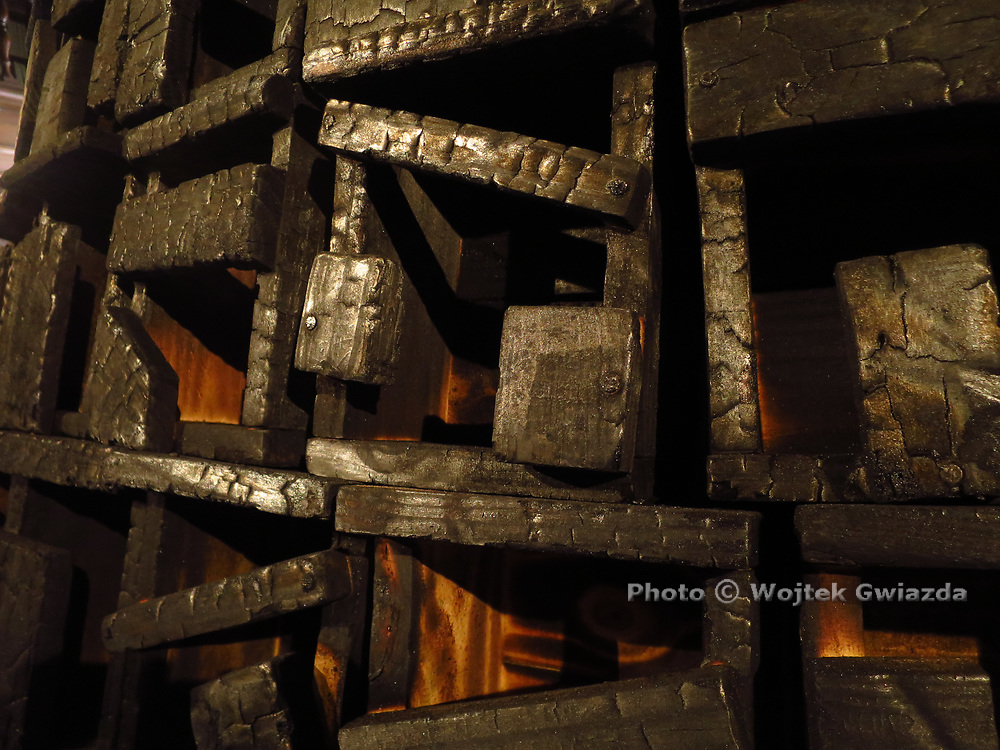 Detail, Roberto Diago's 'Burn City II' (2017) - Cuba at Venice Biennial 2017