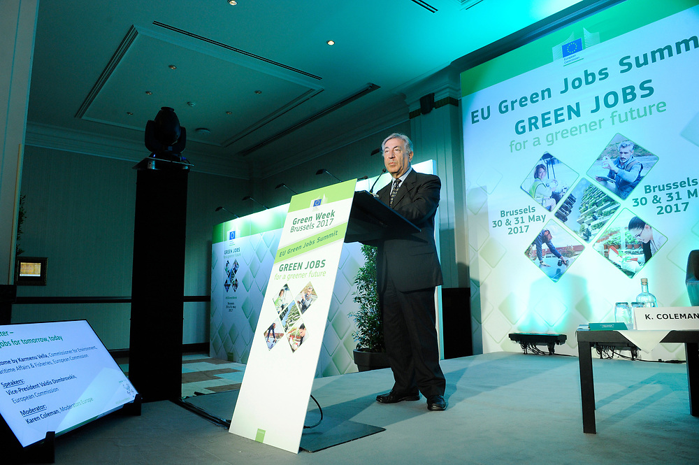 Brussels , Belgium , 30 May 2017 - Green Week 2017 - Green Jobs for a greener future - Green Jobs for Tomorrow, Today - Karmenu Vella, Commissioner for Environment, Maritime Affairs et Fisheries, European Commission<br /> &copy; EU - Patrick Mascart