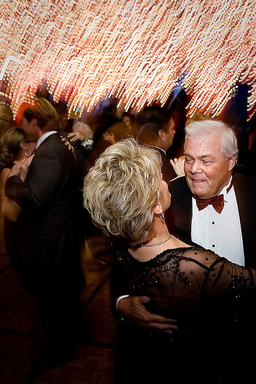Denny Ryerson and his wife Joni take to the dance floor toward the end of the Festival of Trees Gala.