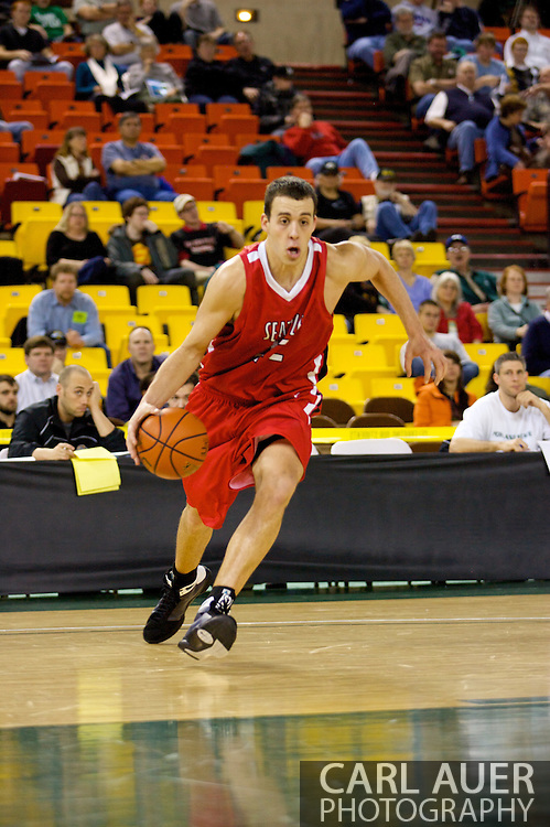 November 27, 2008: Seattle University forward Austen Powers (42) drives to the hoop in the opening round of the 2008 Great Alaska Shootout at the Sullivan Arena