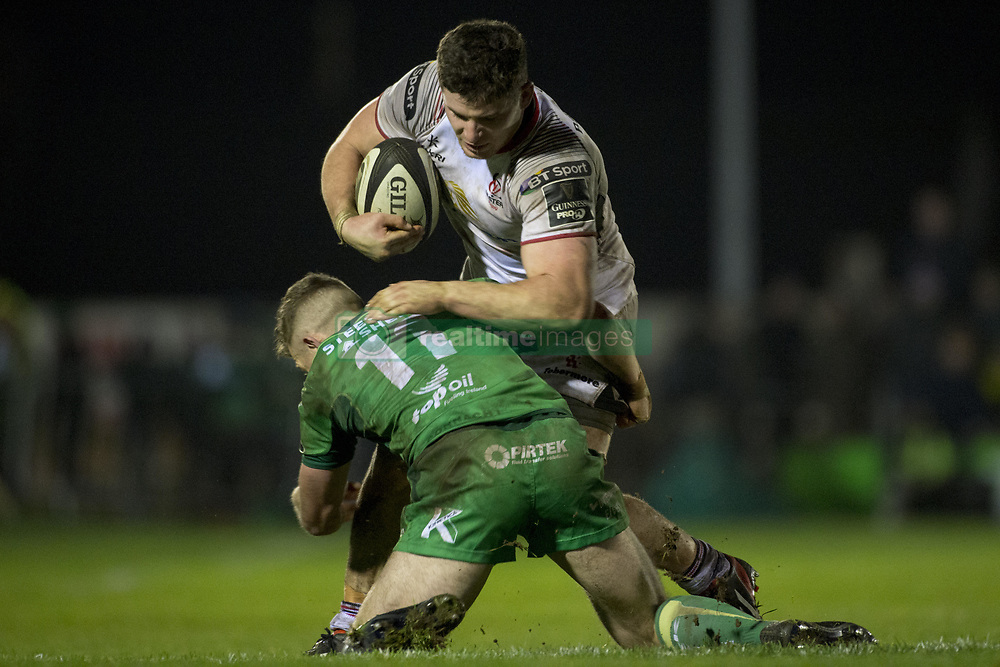 December 24, 2017 - Galway, Ireland - Matt Healy (11) of Connacht in action during the Guinness PRO14 Round 11 match between Connacht Rugby and Ulster Rugby at the Sportsground in Galway, Ireland on December 23, 2017  (Credit Image: © Andrew Surma/NurPhoto via ZUMA Press)