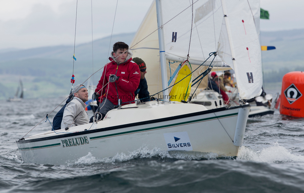 Silvers Marine Scottish Series 2017<br /> Tarbert Loch Fyne - Sailing<br /> <br /> GBR749, Autism on the Water, RNCYC/M MacDonald, PEYC/OSC/RNCYC, Sonar<br /> <br /> Credit: Marc Turner / CCC