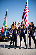 August 2-4 2019: Lamborghini Super Trofeo Road America. Lamborghini grid girls, 27 Cedric Sbirrazzuoli, Dream Racing Motorsport, Lamborghini Huracan Super Trofeo EVO