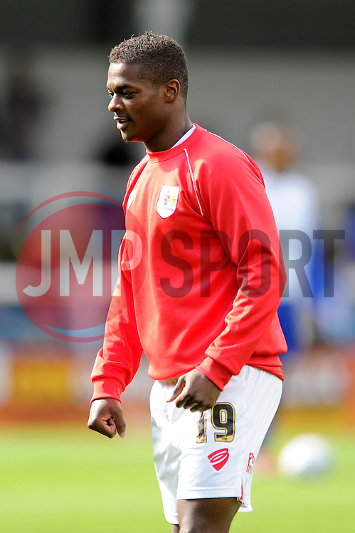 Kieran Agard - Photo mandatory by-line: Dougie Allward/JMP - Mobile: 07966 386802 23/08/2014 - SPORT - FOOTBALL - Manchester - Spotland Stadium - Rochdale AFC v Bristol City - Sky Bet League One
