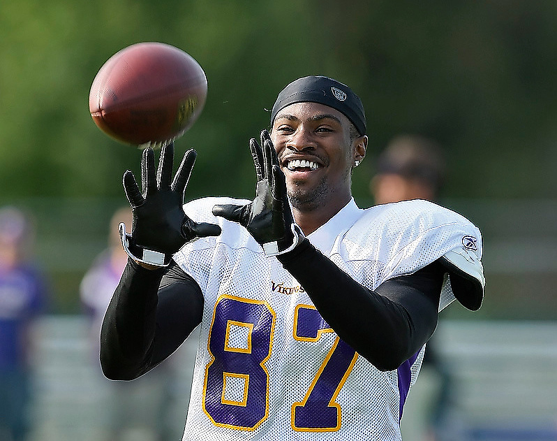 MANKATO, MN - August 1: Day two of Minnesota Vikings Training camp at Minnesota State University on August 1, 2009 in Mankato, Minnesota. (Photo by Adam Bettcher/Minnesota Vikings/Amos-Smith)