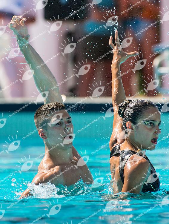 Giorgio Minisini Veronica Yacoub Olgiata 2012<br /> Semifinale duo<br /> Campionato Assoluto Nuoto Sincronizzato<br /> Stadio del Nuoto Roma  Italy 6-8 giugno 2014<br /> Photo G.Scala/Deepbluemedia/Insidefoto