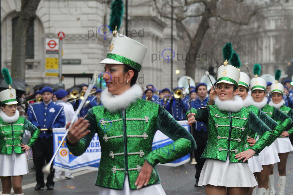 Majorettes Compatrum London's New Year's Day Parade, City of Westminster, London, UK, 01 January 2011:  Contact: Ian@Piqtured.com +44(0)791 626 2580 (Picture by Richard Goldschmidt)